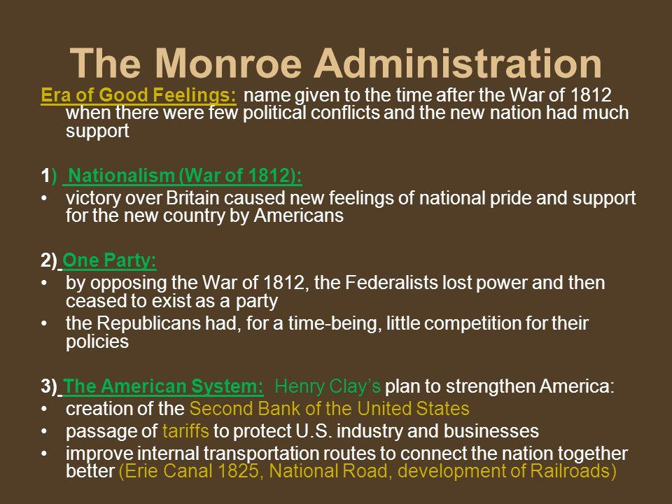 The Monroe Administration