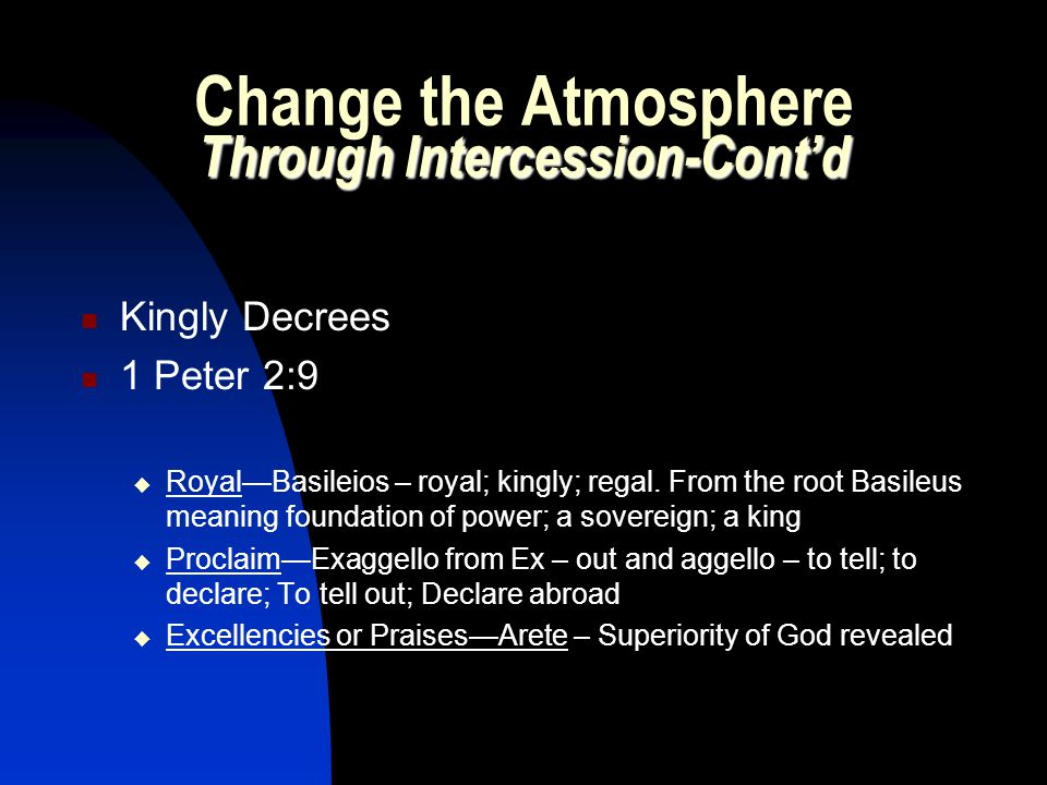 Change the Atmosphere Through Intercession-Cont'd
