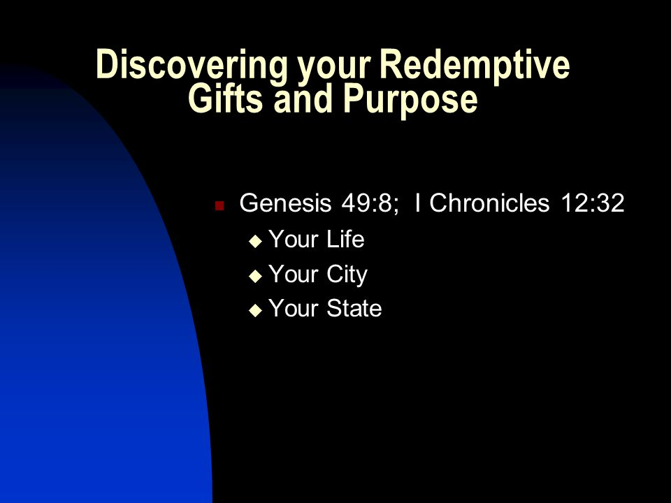 Discovering your Redemptive Gifts and Purpose