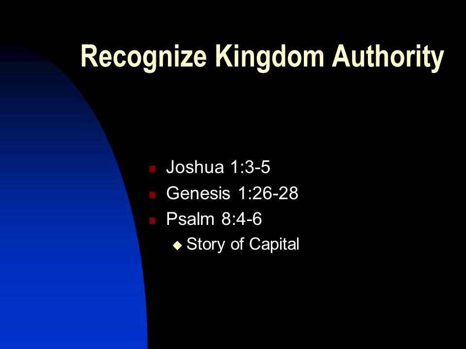 Recognize Kingdom Authority