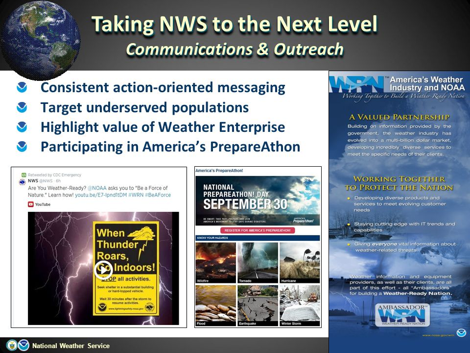 Taking NWS to the Next Level Communications & Outreach