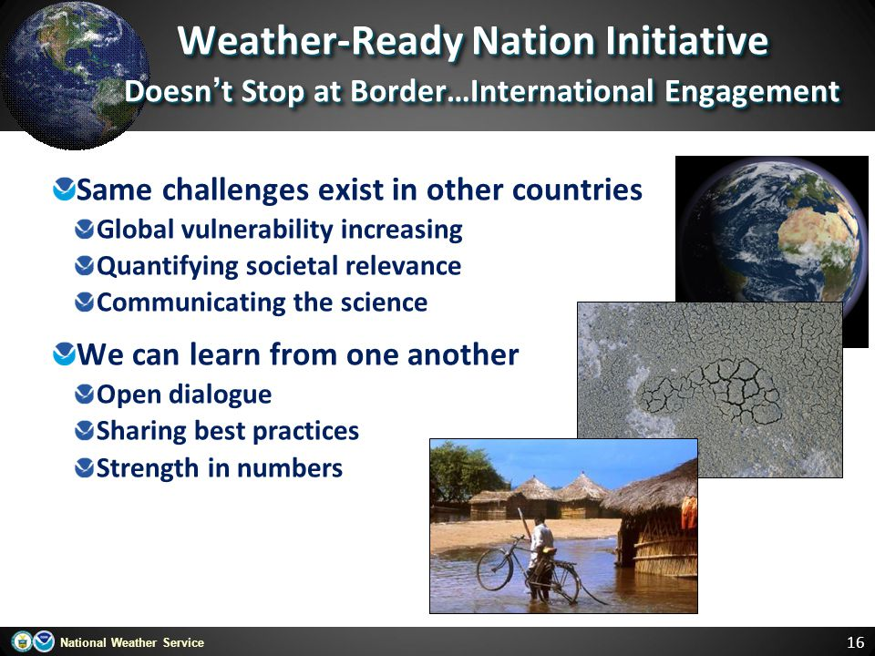 Weather-Ready Nation Initiative Doesn't Stop at Border…International Engagement