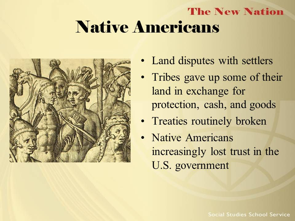Native Americans Land disputes with settlers