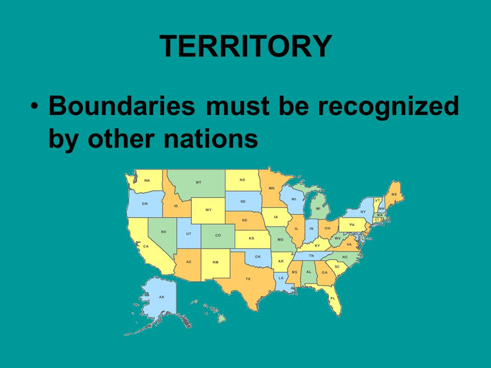 TERRITORY Boundaries must be recognized by other nations