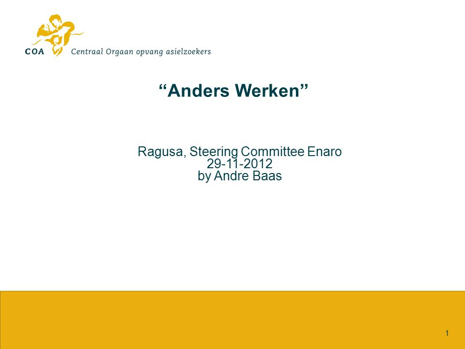 Ragusa, Steering Committee Enaro