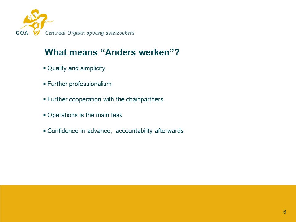 What means Anders werken