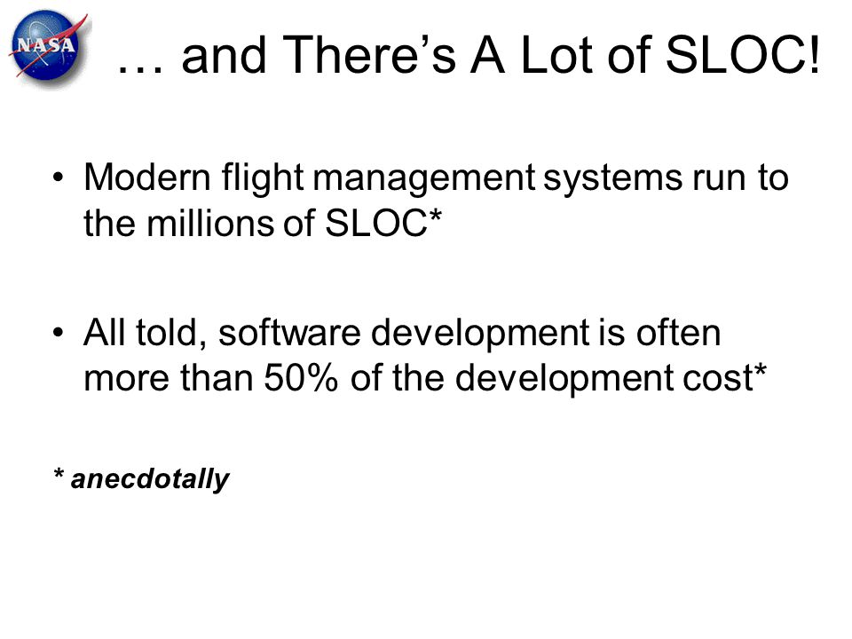 … and There's A Lot of SLOC!