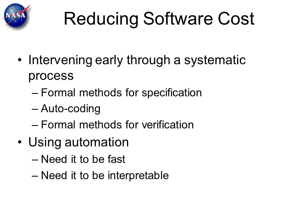 Reducing Software Cost