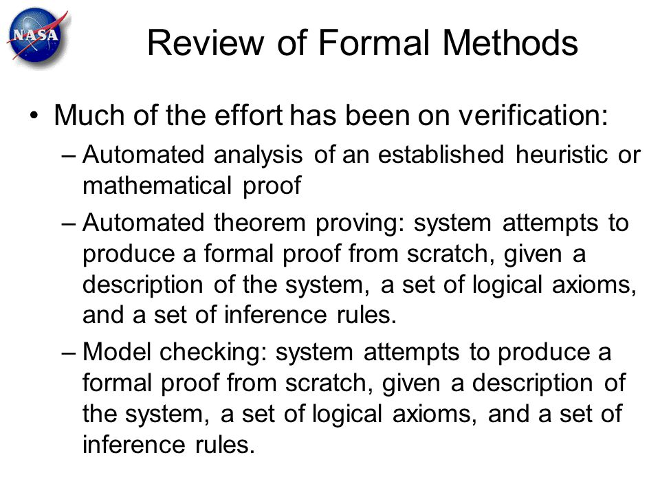 Review of Formal Methods