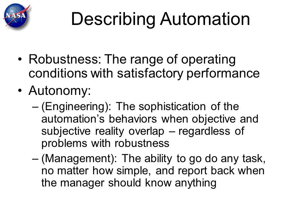 Describing Automation