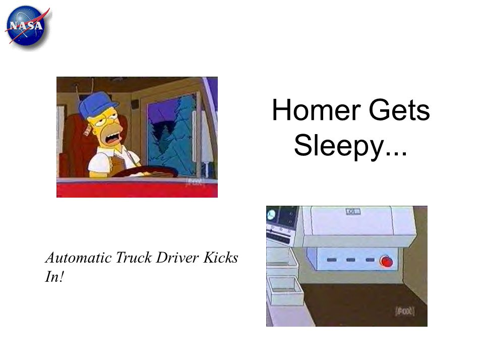Homer Gets Sleepy... Automatic Truck Driver Kicks In!