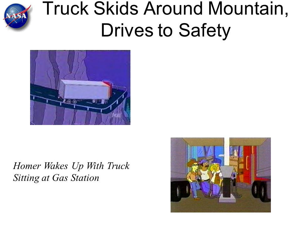 Truck Skids Around Mountain, Drives to Safety