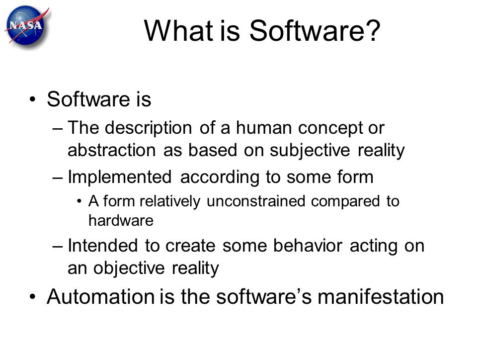 What is Software Software is