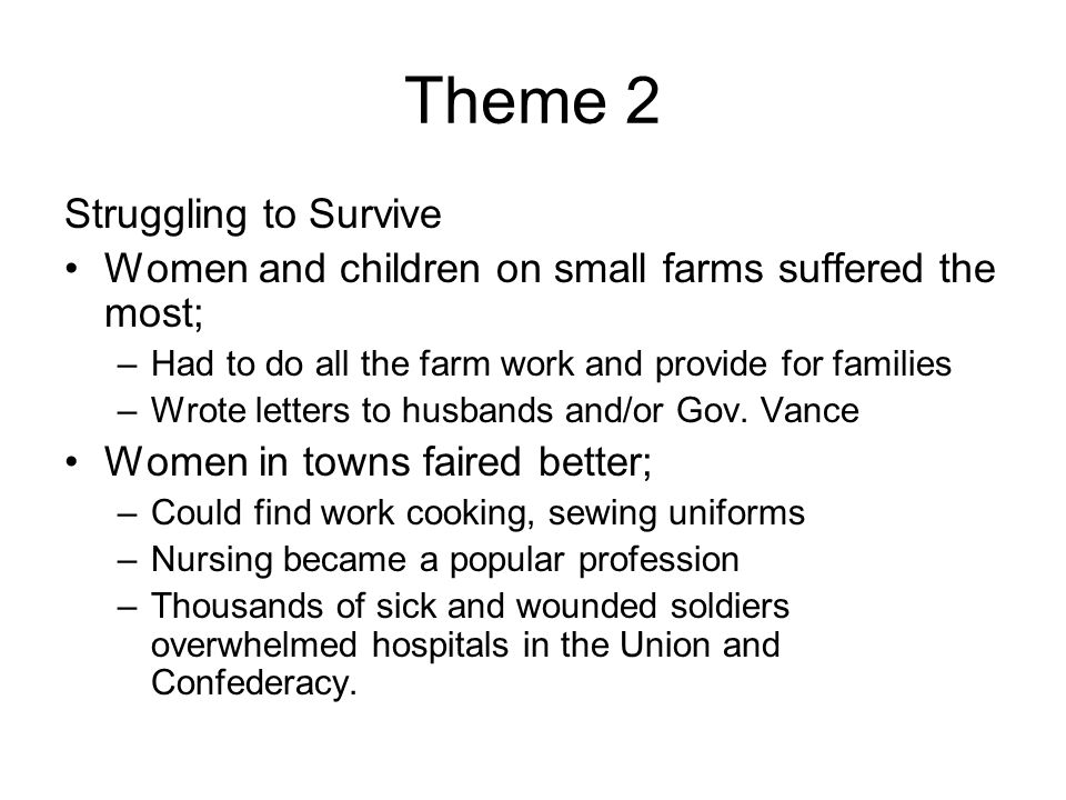 Theme 2 Struggling to Survive