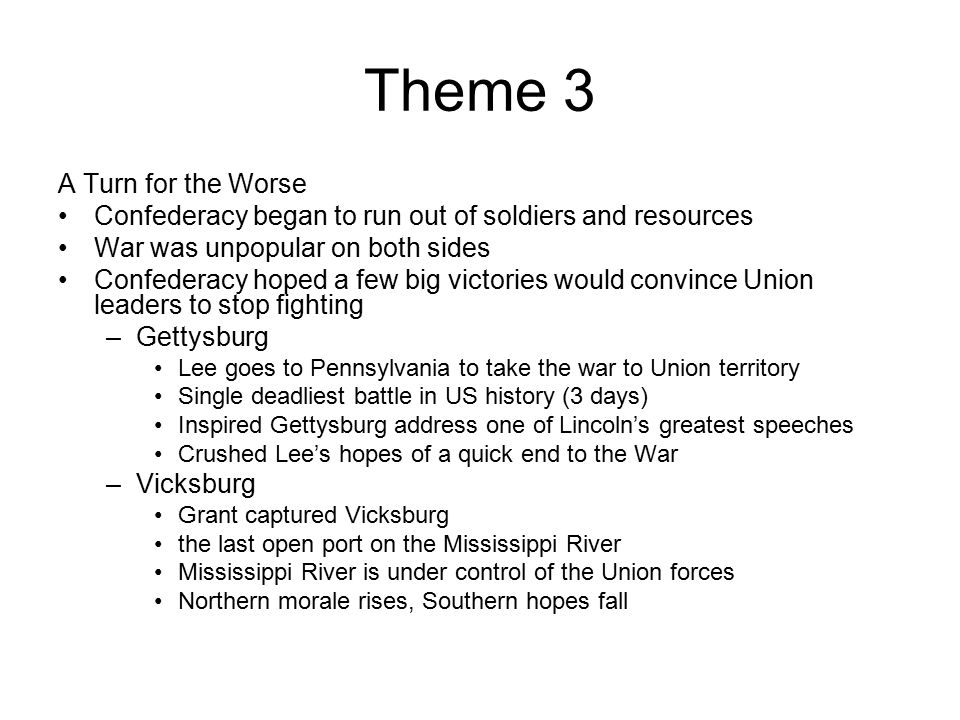 Theme 3 A Turn for the Worse