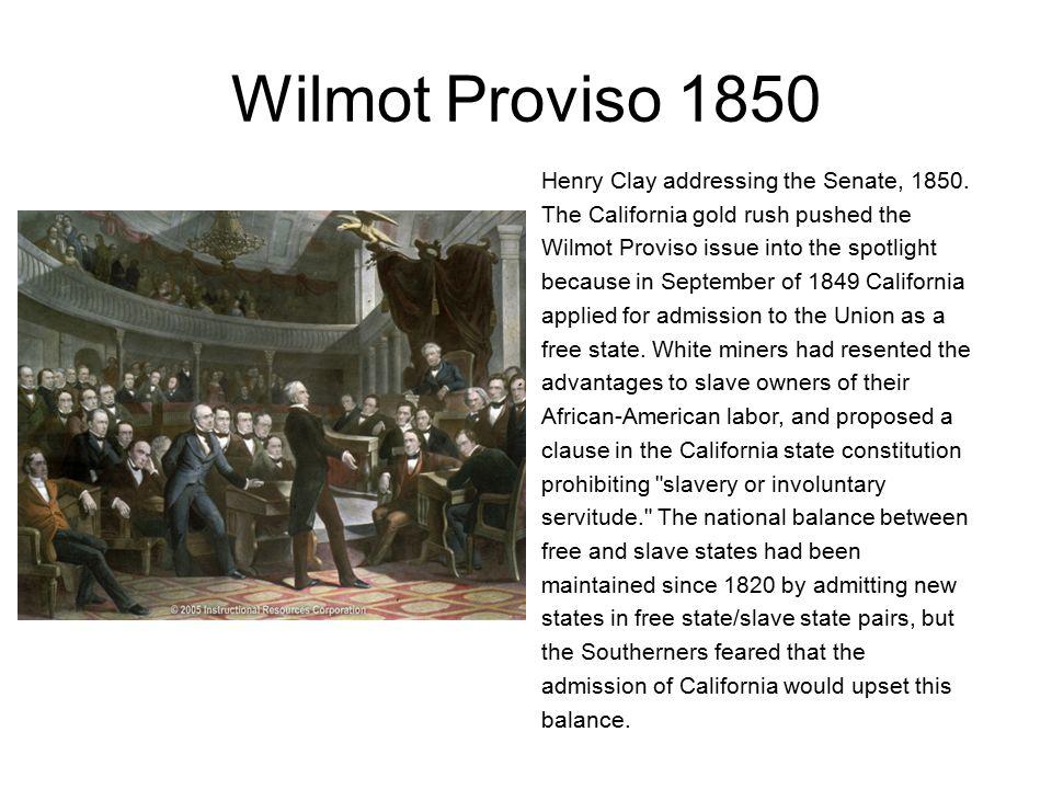 Wilmot Proviso 1850