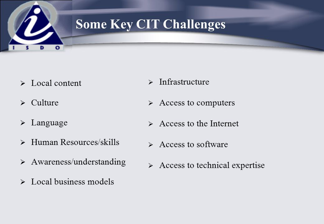 Some Key CIT Challenges