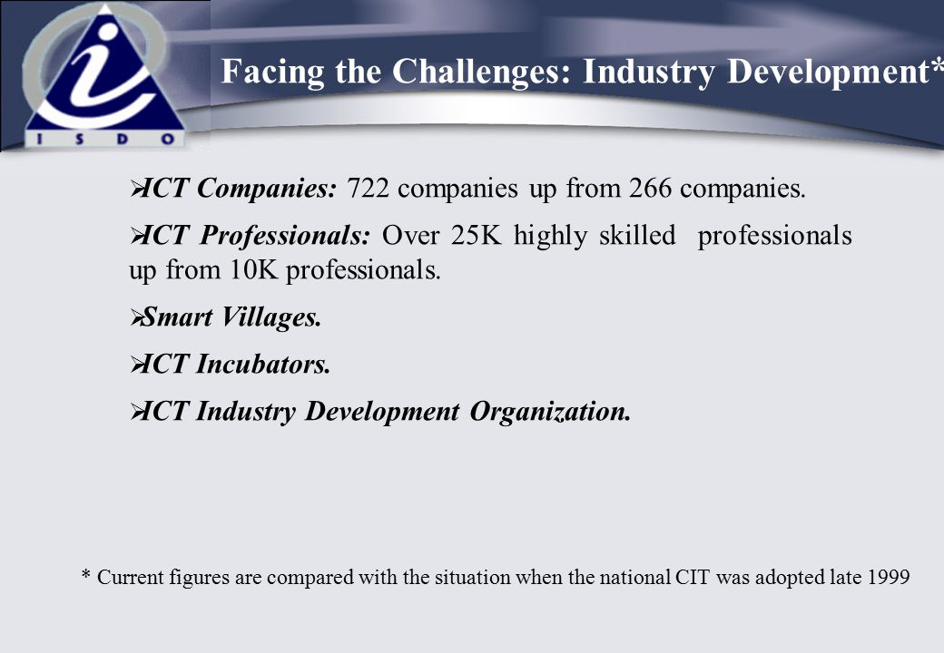 Facing the Challenges: Industry Development*