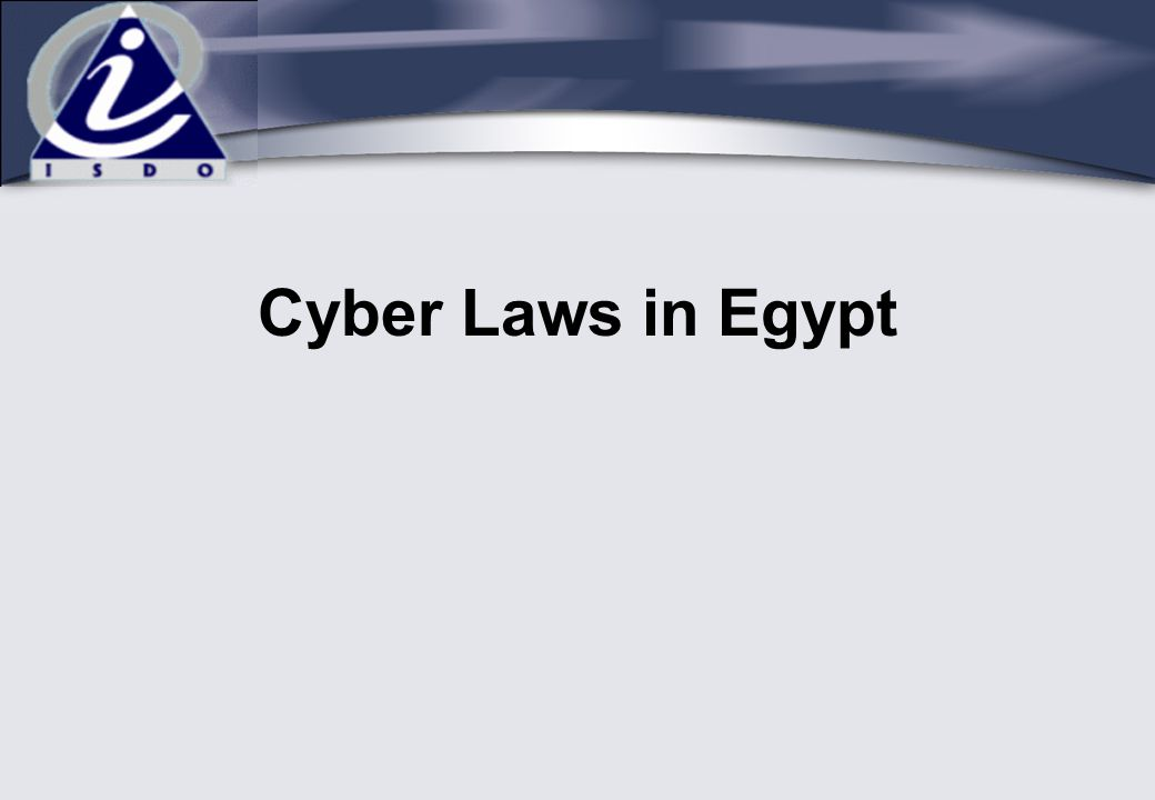 Cyber Laws in Egypt