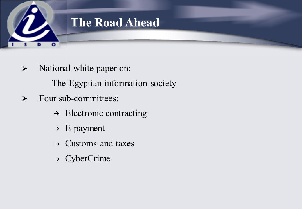 The Road Ahead National white paper on: