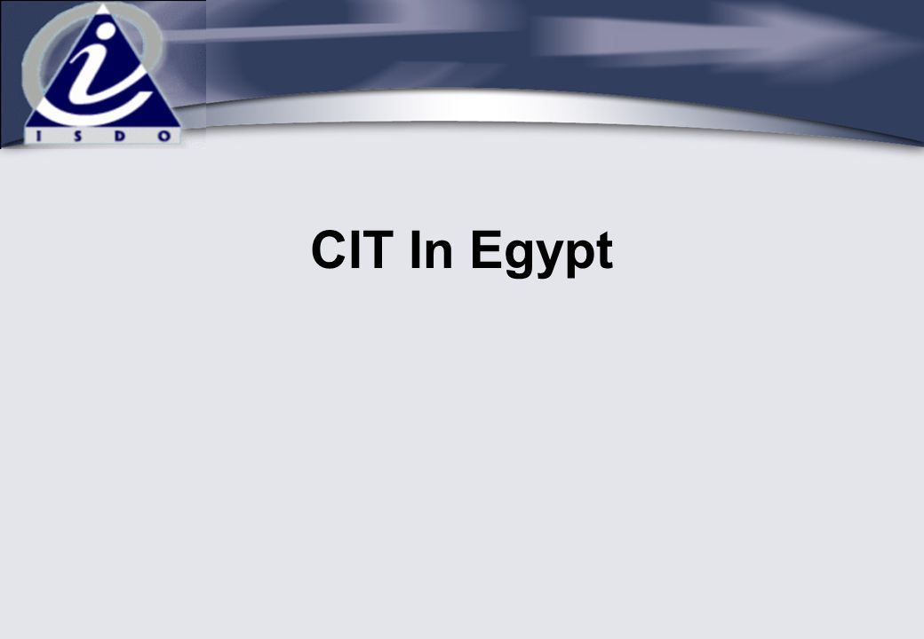 CIT In Egypt