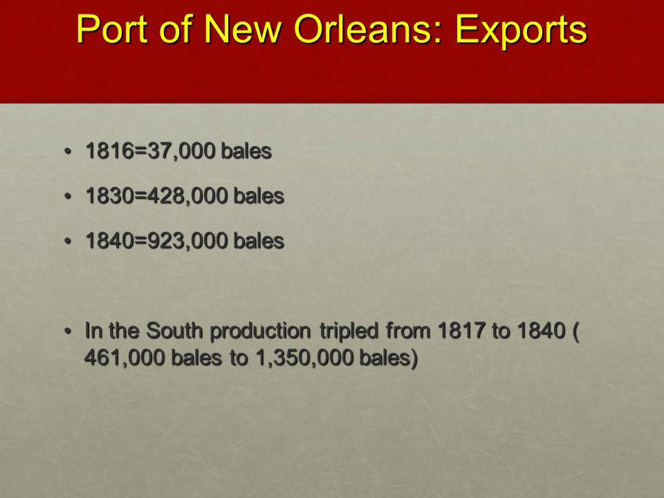 Port of New Orleans: Exports