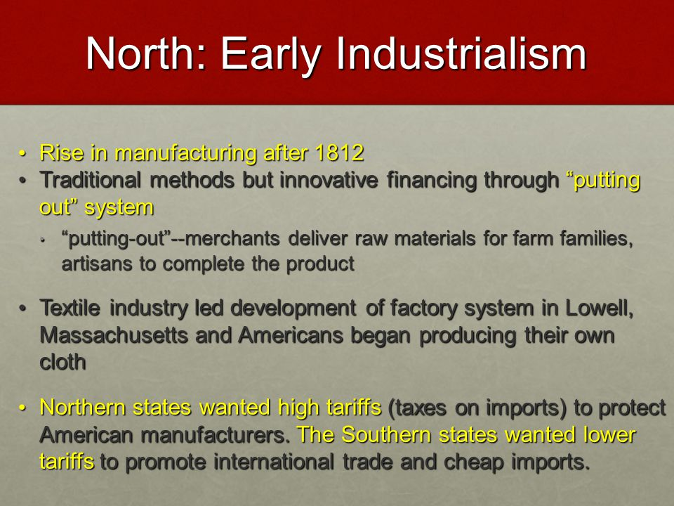 North: Early Industrialism