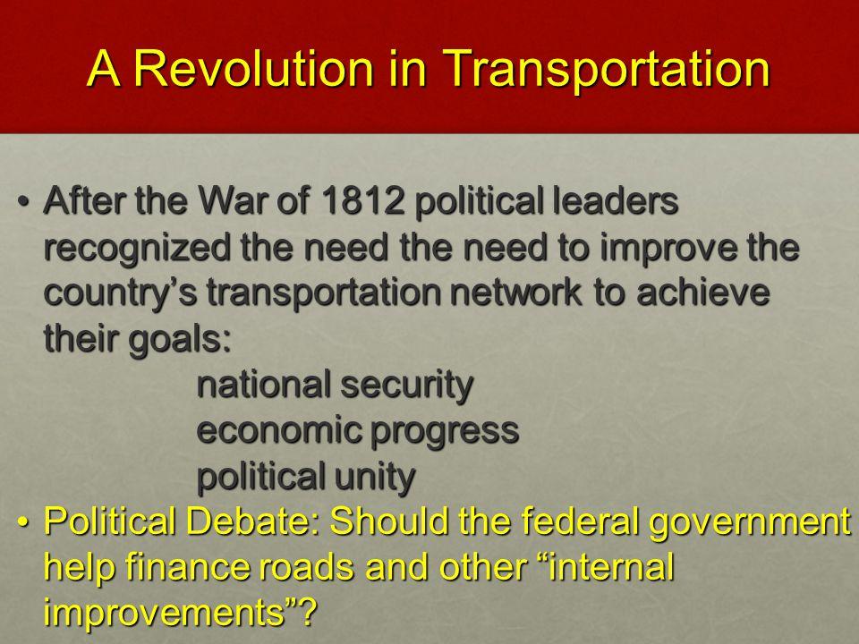A Revolution in Transportation