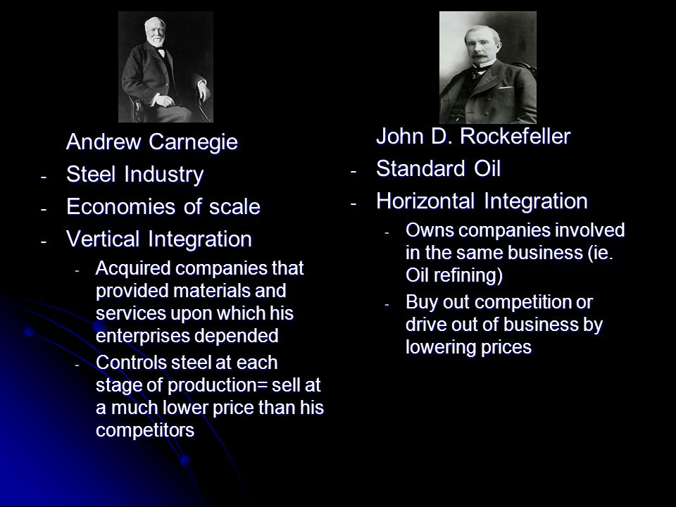 Horizontal Integration Andrew Carnegie Steel Industry