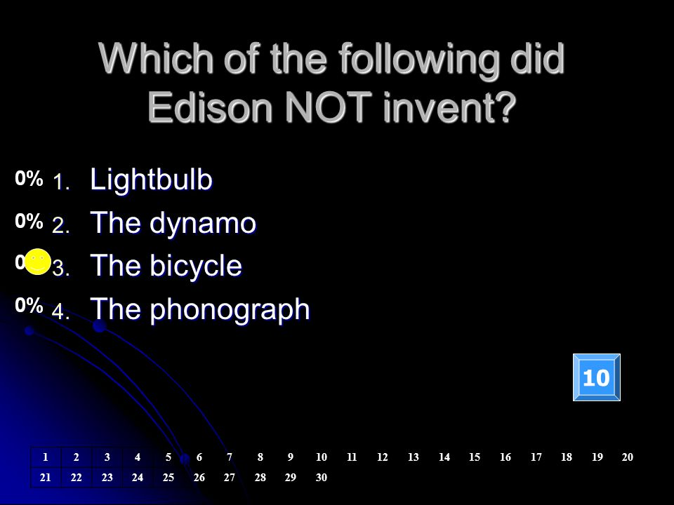 Which of the following did Edison NOT invent