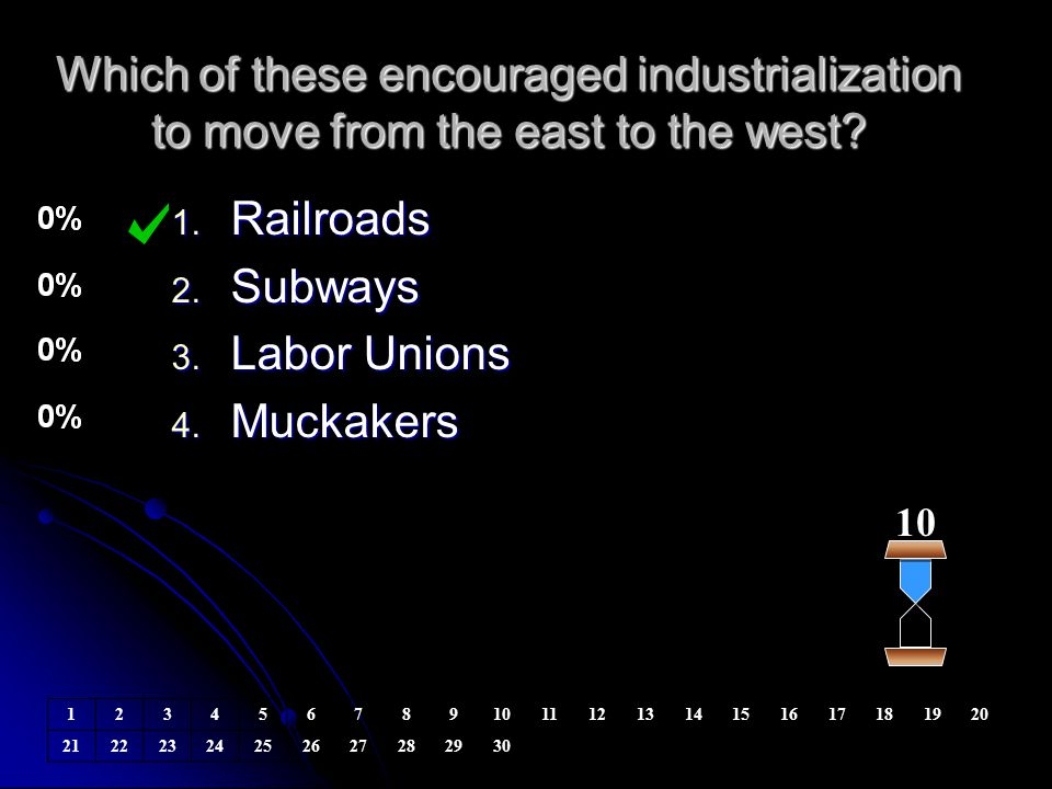 Which of these encouraged industrialization to move from the east to the west