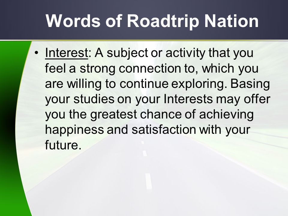 Words of Roadtrip Nation