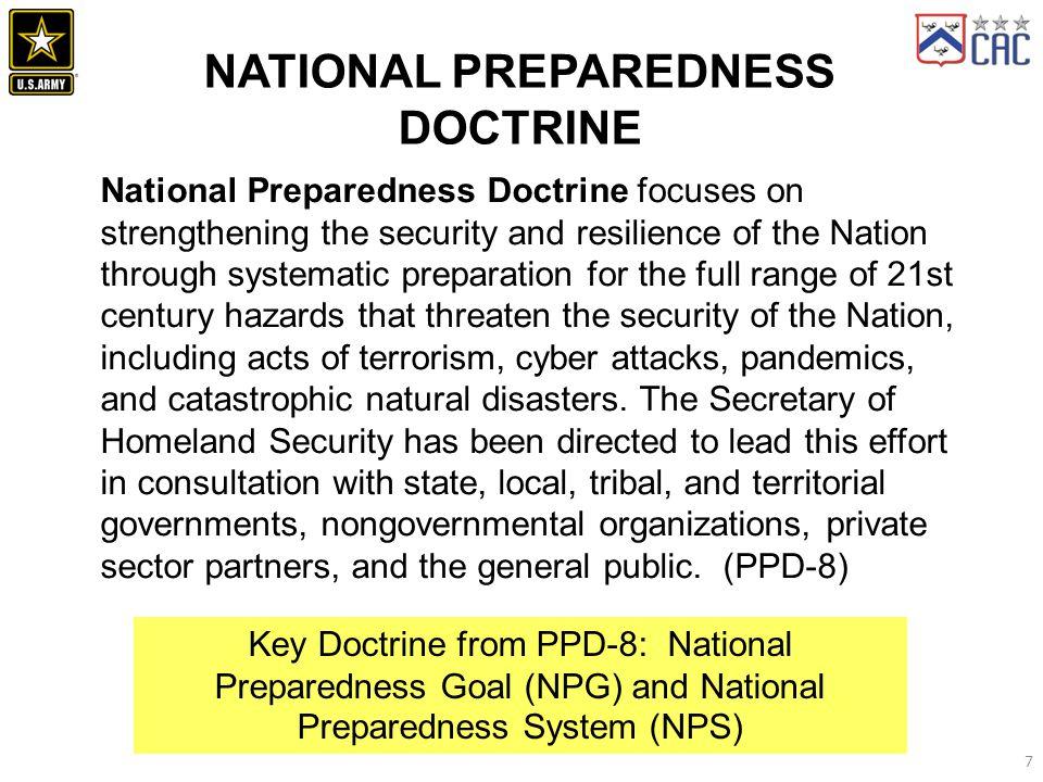 NATIONAL PREPAREDNESS DOCTRINE