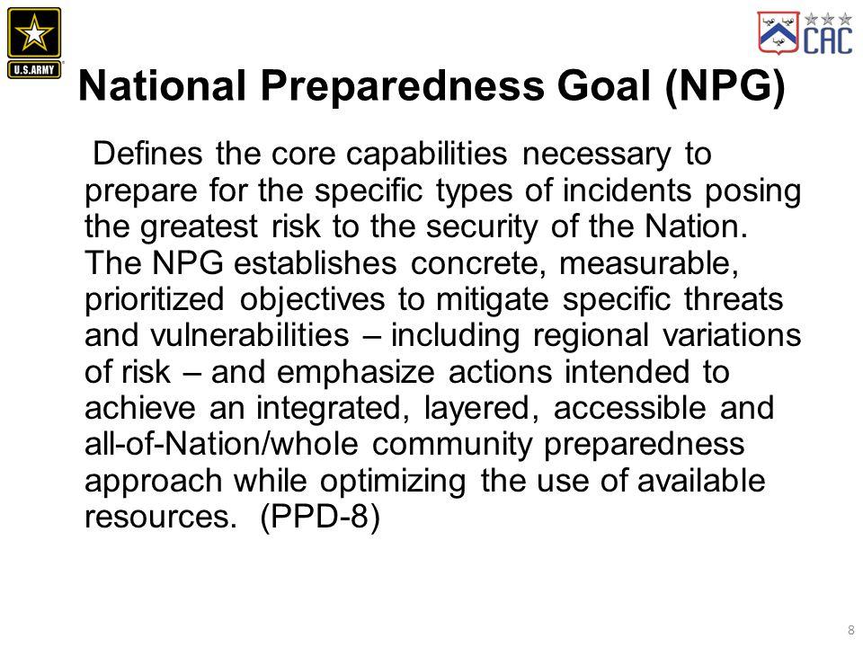 National Preparedness Goal (NPG)