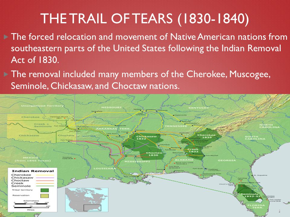 The Trail of Tears (1830-1840)