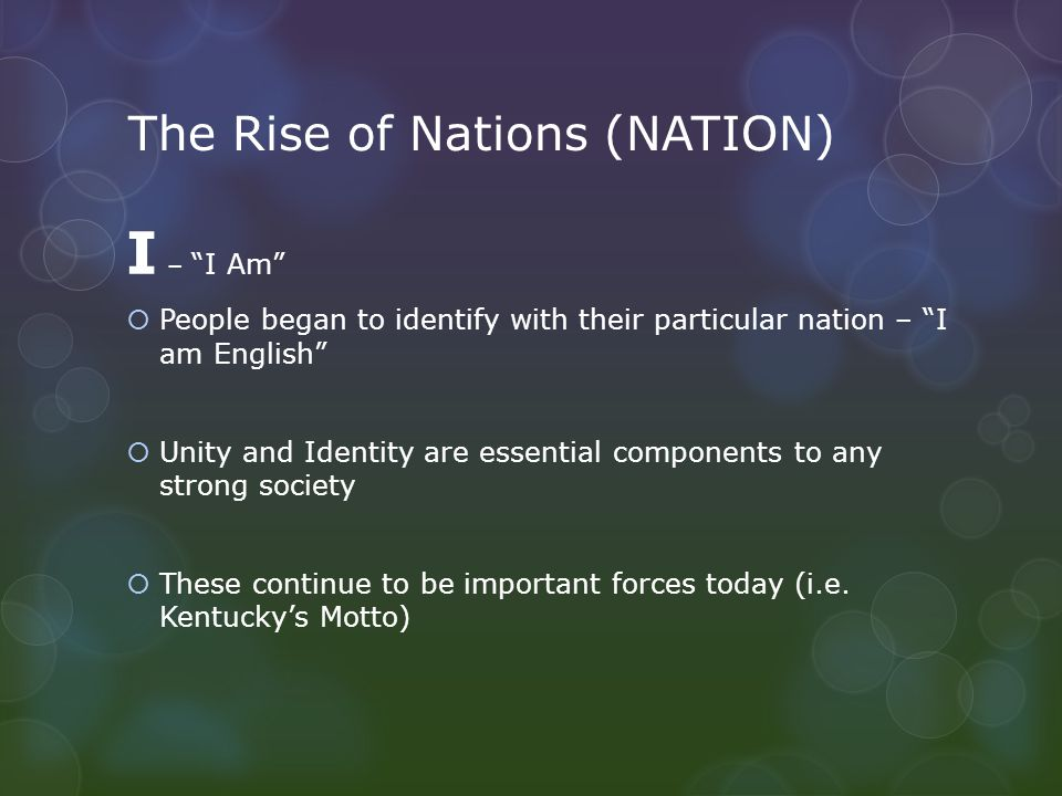 The Rise of Nations (NATION)