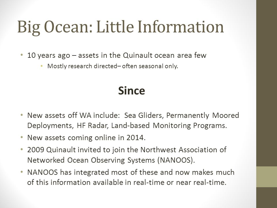 Big Ocean: Little Information
