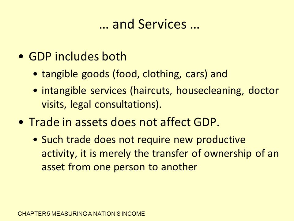 … and Services … GDP includes both