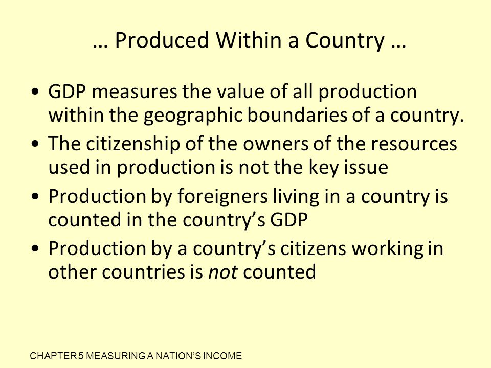 … Produced Within a Country …