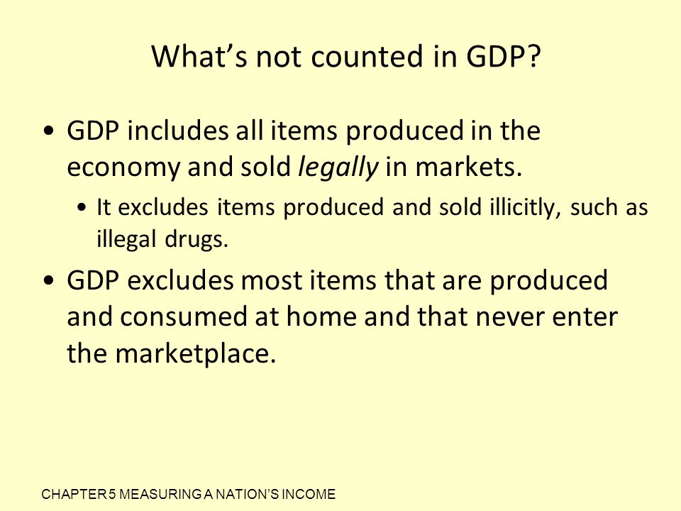 What's not counted in GDP