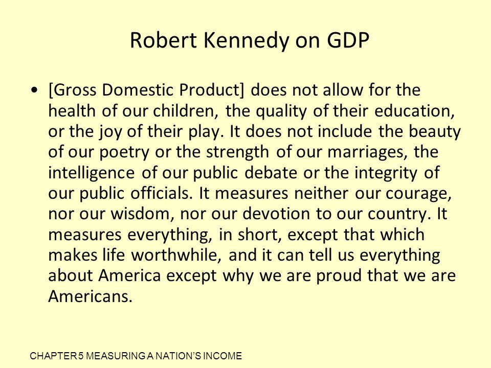 Robert Kennedy on GDP