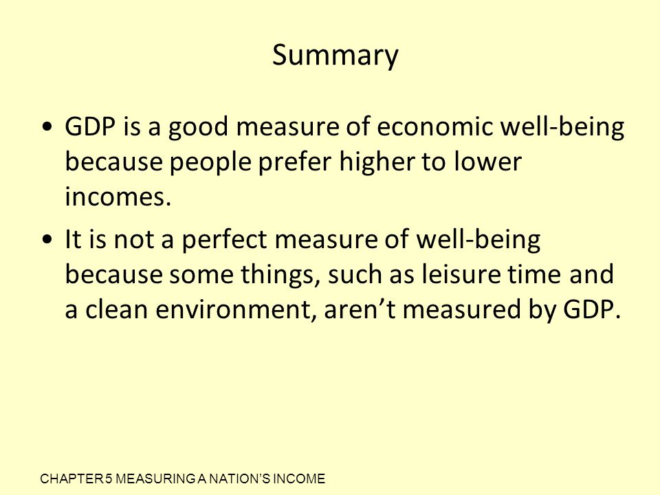 Is the GDP a perfect measure of economic well-beingAnd How it measure economics well being?