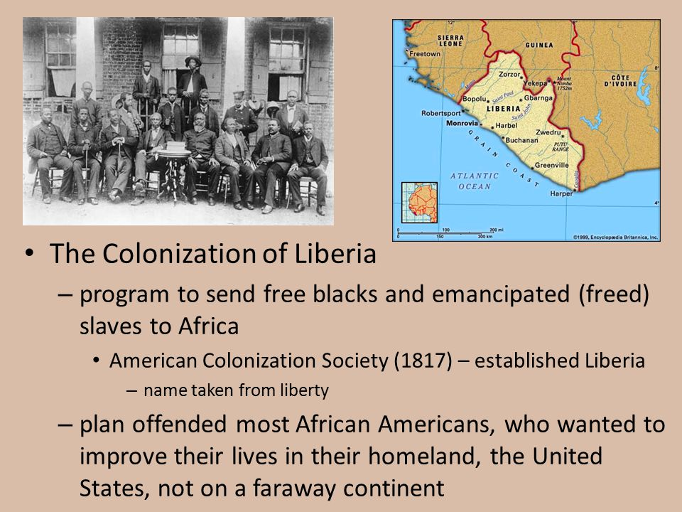 The Colonization of Liberia