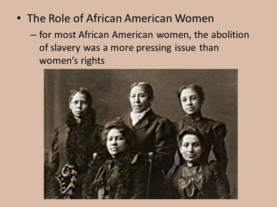 The Role of African American Women