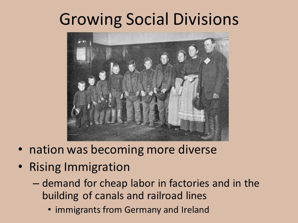 Growing Social Divisions
