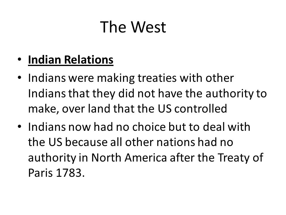 The West Indian Relations