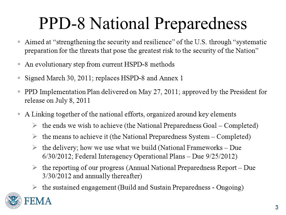 PPD-8 National Preparedness