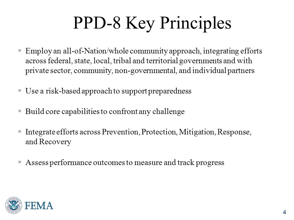 PPD-8 Key Principles