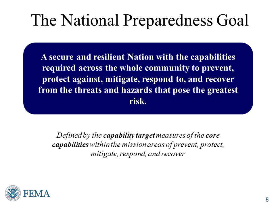 The National Preparedness Goal