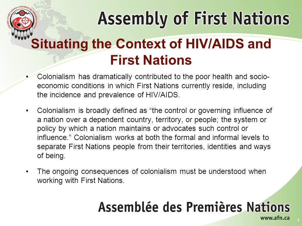Situating the Context of HIV/AIDS and First Nations